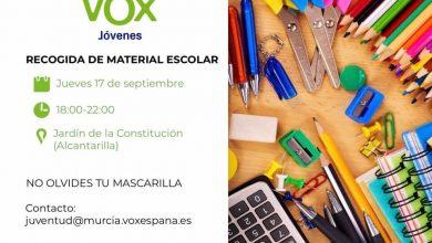 Photo of Vox Alcantarilla organiza una recogida de material escolar para familias necesitadas