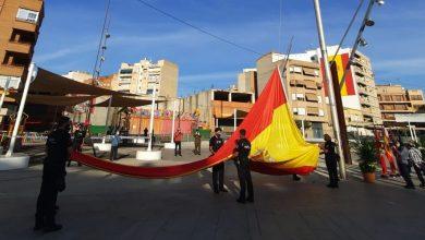 Photo of LA IMAGEN. Homenaje a la bandera nacional sin público