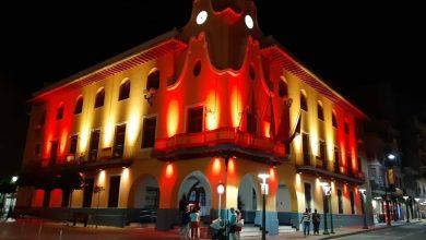Photo of La imagen. Fachada rojigualda en el Ayuntamiento