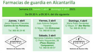 Photo of Farmacias de guardia en Alcantarilla semana 13 de 2021
