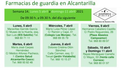 Photo of Farmacias de guardia en Alcantarilla del 5 al 11 de abril
