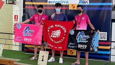Photo of Pedro Tudela, del Club Natación Alcantarilla, campeón regional en 100 metros espalda