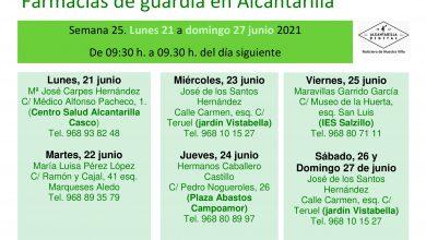 Photo of Farmacias de guardia en Alcantarilla del 21 al 27 de junio