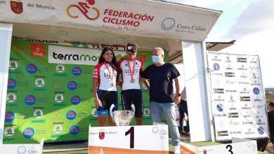 Photo of José María Mompeán y Alejandra Vargas, ganadores del Campeonato Regional de Ciclismo Cadete