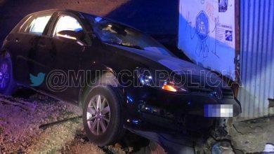 Photo of Heridos los ocupantes de un vehículo que se estrelló contra una caseta en Sangonera