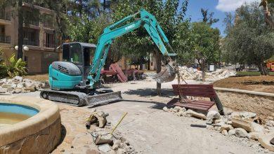 Photo of Las máquinas levantan el jardín de Campoamor para su renovación