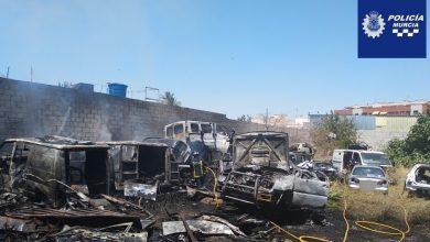 Photo of Incendio en un desguace de Puebla de Soto