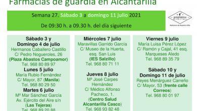 Photo of Farmacias de guardia en Alcantarilla del 3 al 11 de julio de 2021