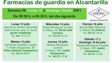 Photo of Farmacias de guardia en Alcantarilla del lunes 12 al domingo 18 de julio
