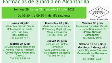 Photo of Farmacias de guardia en Alcantarilla del lunes 26 de julio al domingo 1 de agosto