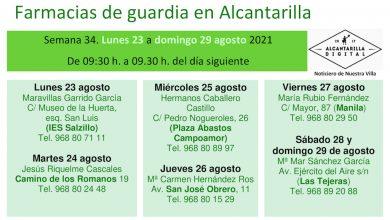 Photo of Farmacias de guardia en Alcantarilla del 23 al 29 de agosto