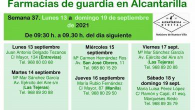 Photo of Farmacias de guardia en Alcantarilla del lunes 13 al domingo 19 de septiembre
