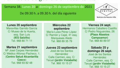 Photo of Farmacias de guardia en Alcantarilla del lunes 20 al domingo 26 de septiembre