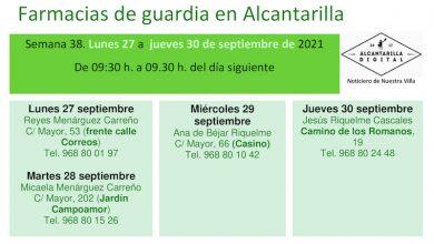 Photo of Farmacias de guardia en Alcantarilla del lunes 27 al jueves 30 de septiembre