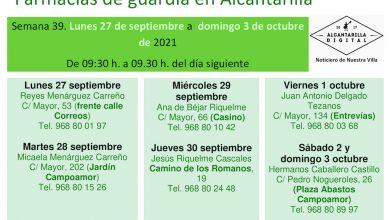 Photo of Farmacias de guardia en Alcantarilla del lunes 27 de septiembre al domingo 3 de octubre