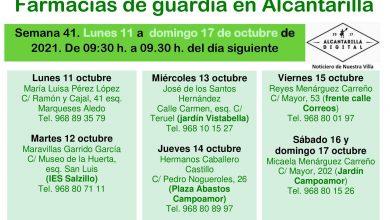 Photo of Farmacias de guardia en Alcantarilla del lunes 11 al domingo 17 de octubre